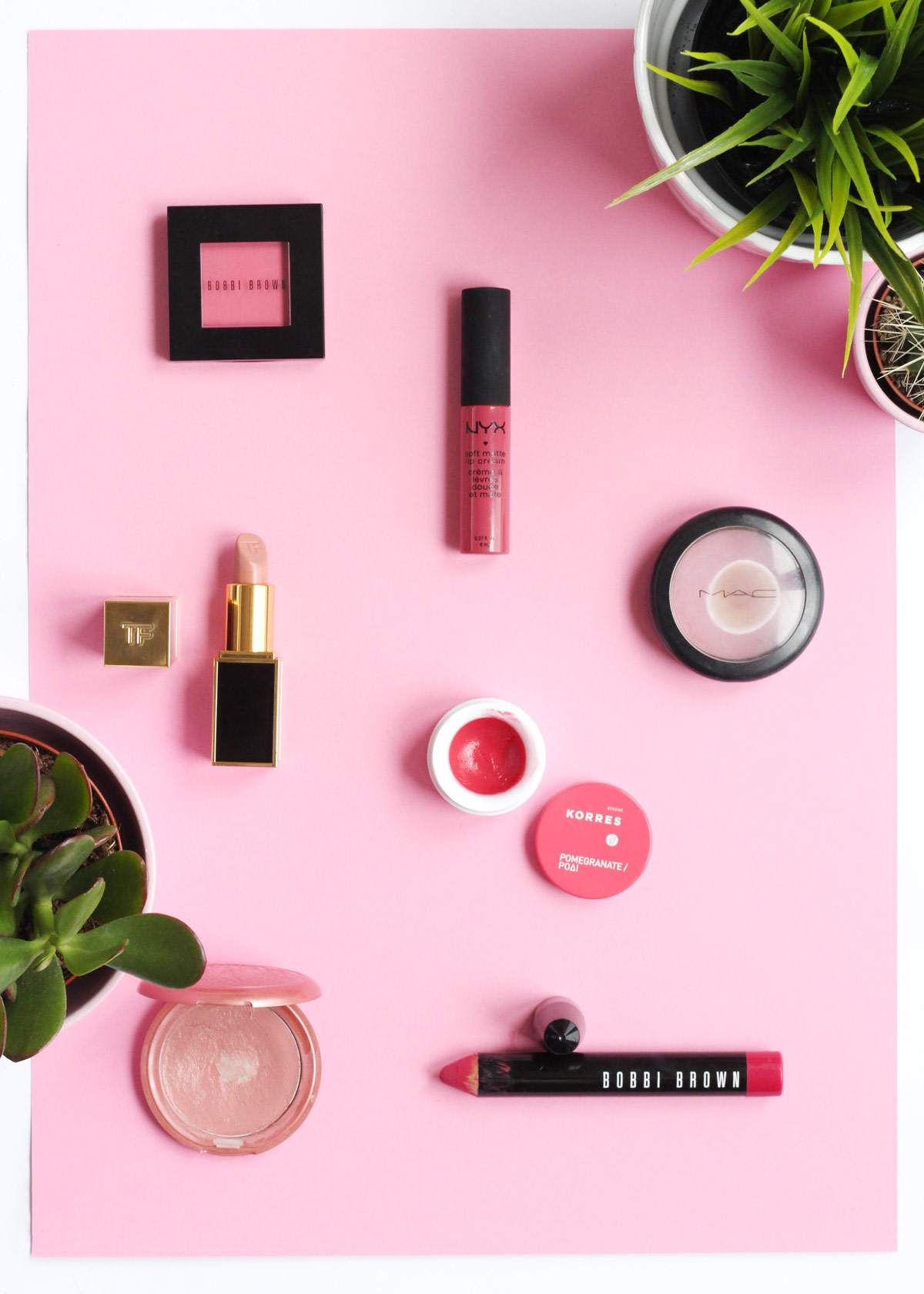 Think Pink | My Top Pink Lipsticks and Blush - my spring makeup picks ft bobbi brown, NYX, tom ford, korres, MAC cosmetics and stila - The Lovecats Inc