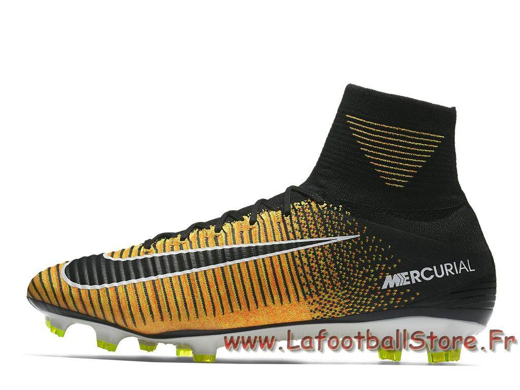 nike mercurial superfly v fg volt 831940801 chaussure de football à crampons pour terrain sec