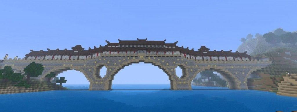 Minecraft Japanese Bridge cool bridges minecraft 6 | minecraft mostly builds | pinterest