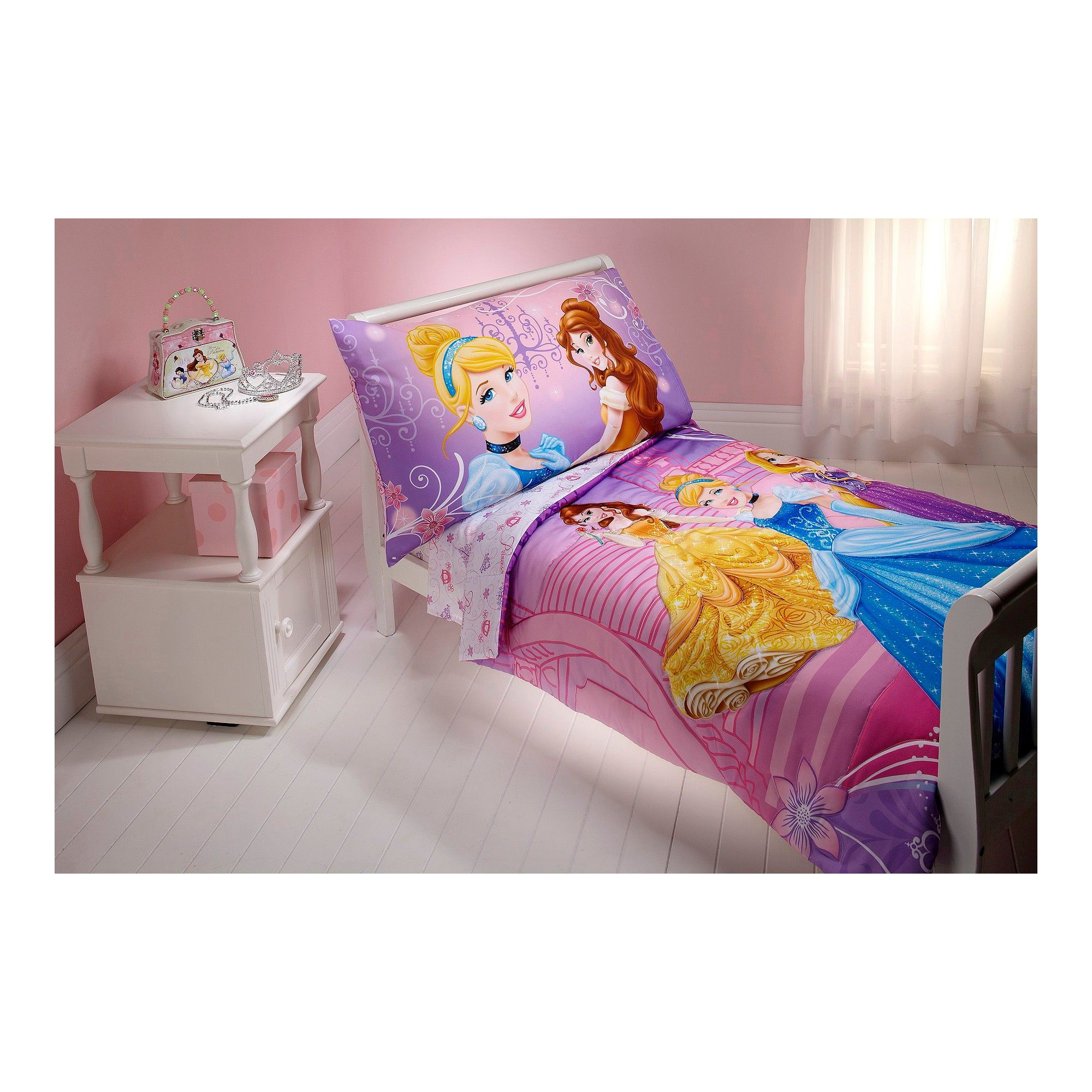 Disney Princess Dress To Shine 4 Piece Bedding Set  Toddler New Toddler Bedroom Set Decorating Inspiration