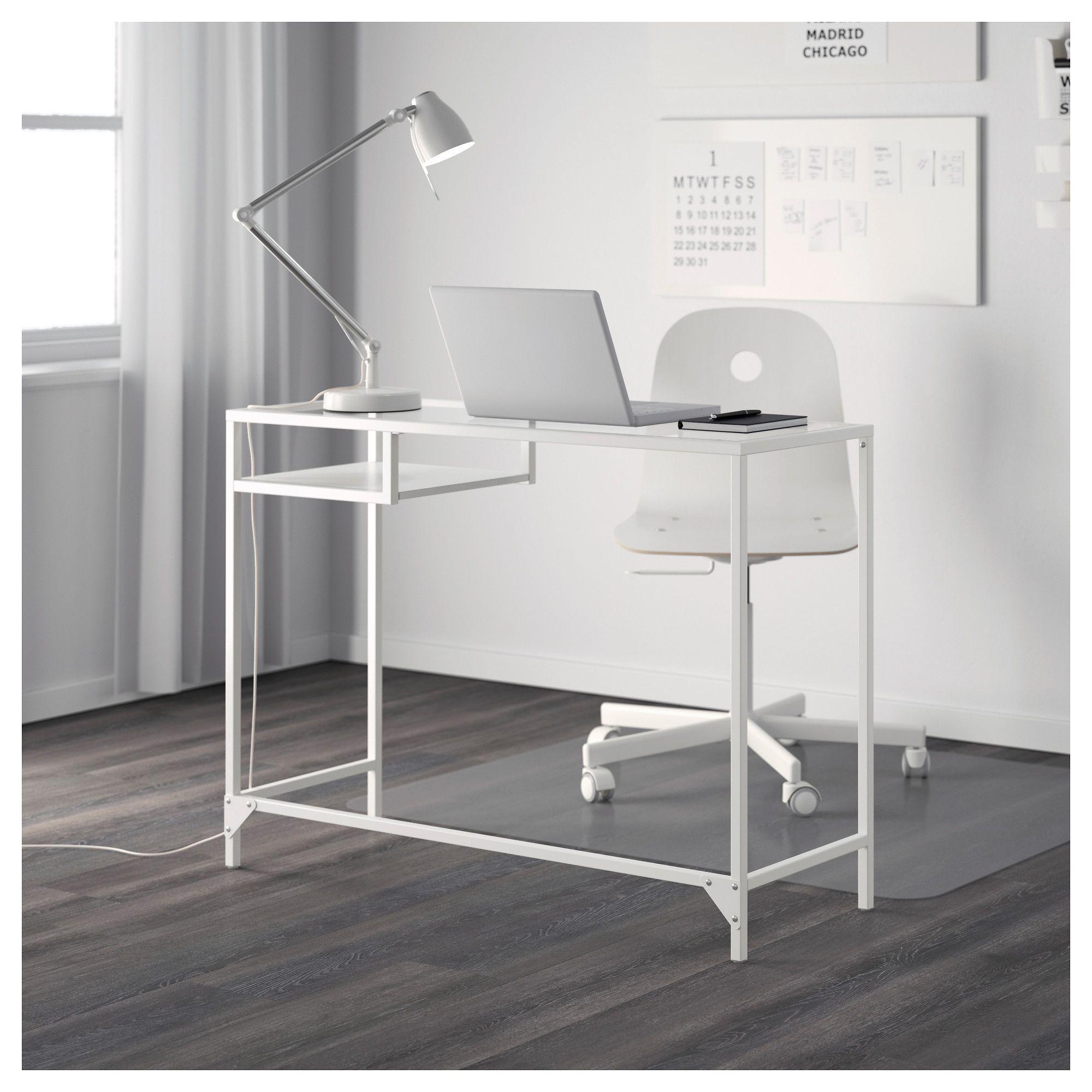 super popular 2482a a93e8 IKEA - VITTSJÖ Laptop table white, glass | hillur | Ikea ...