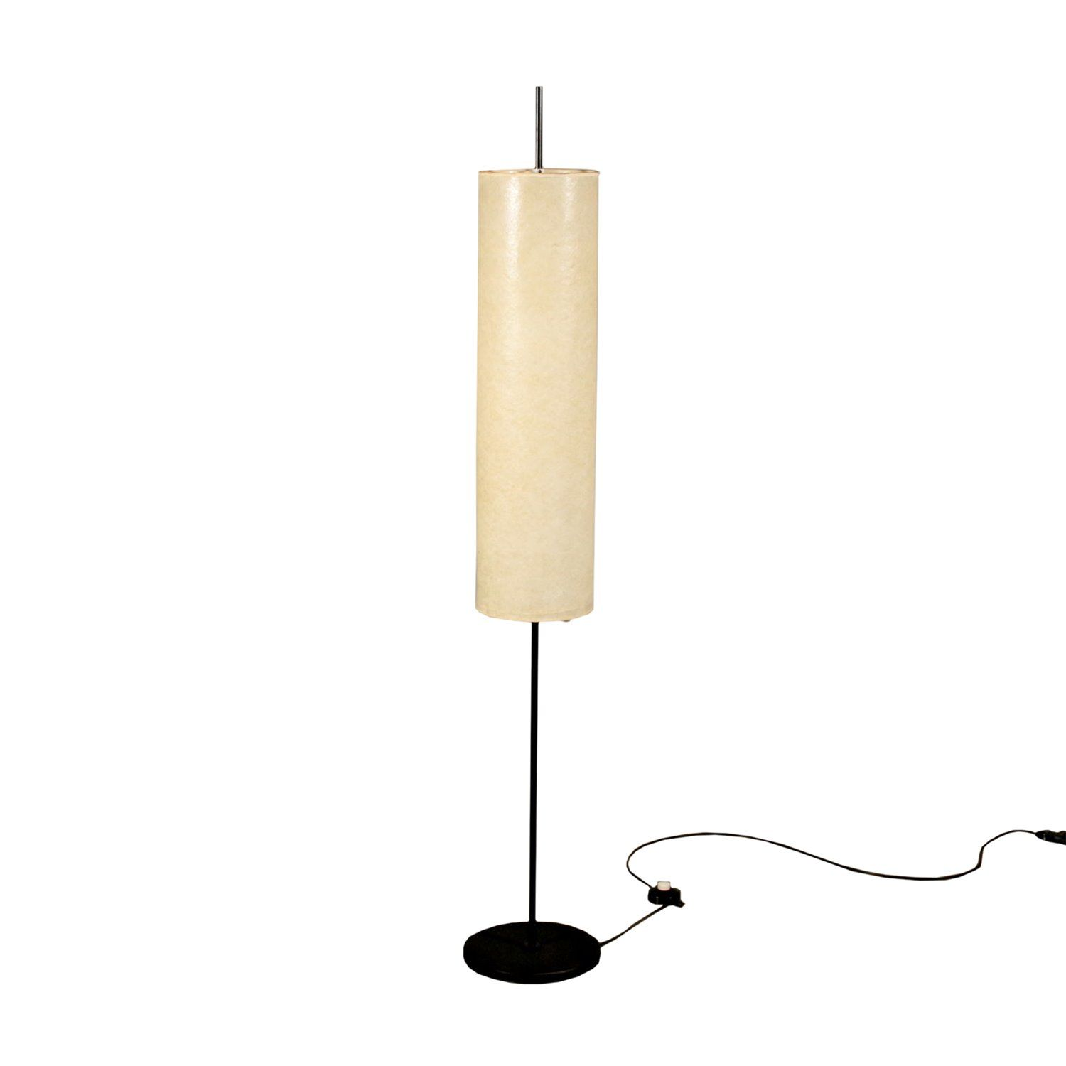 Floor Lamp With Lampshade Metal Vintage Italy 1960s 1970s