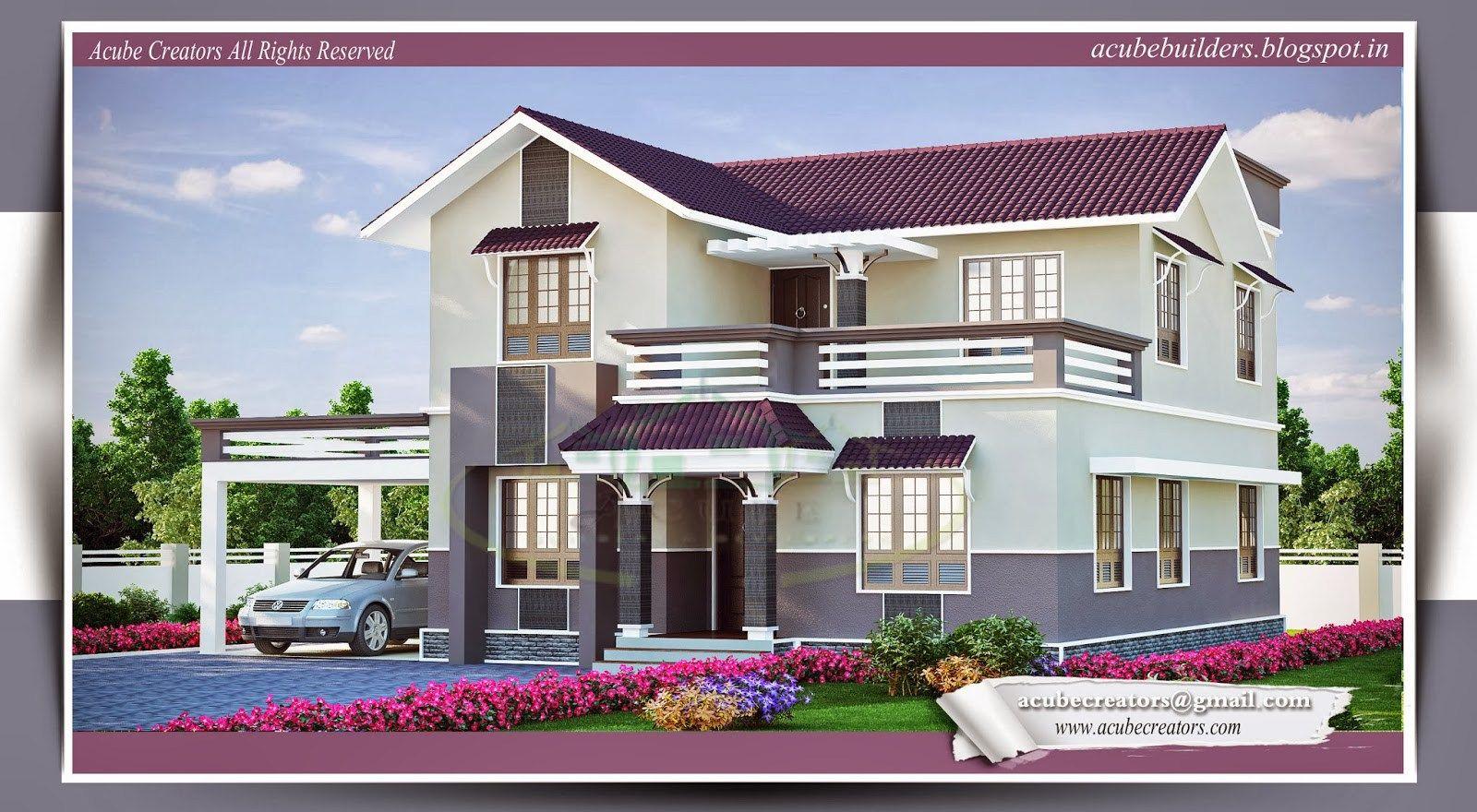 Kerala Home Design House Plans Indian Models Estimate Elevations Building Estimates Atap