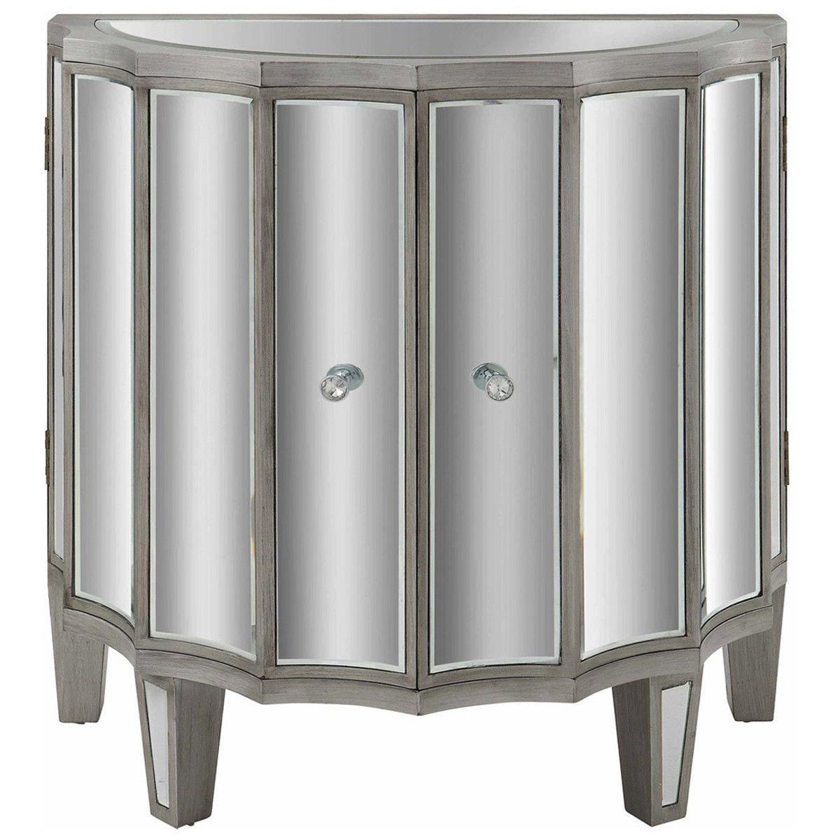 Millenium Bent Mirrored 2 Door Cabinet