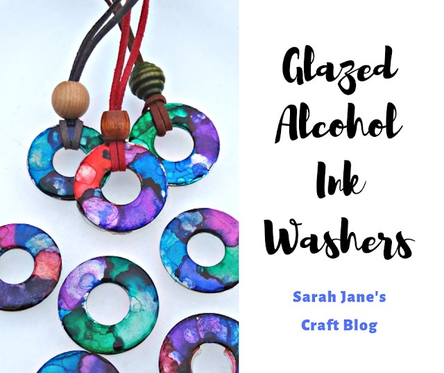 Glazed Alcohol Ink Washers: Testing Three Types of Glaze #alcoholinkcrafts