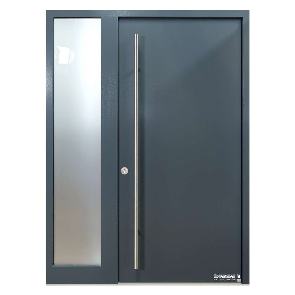 Moderne Haustur Sono 1 Ral Farbe Mit Seitenteil Bis 160 Cm