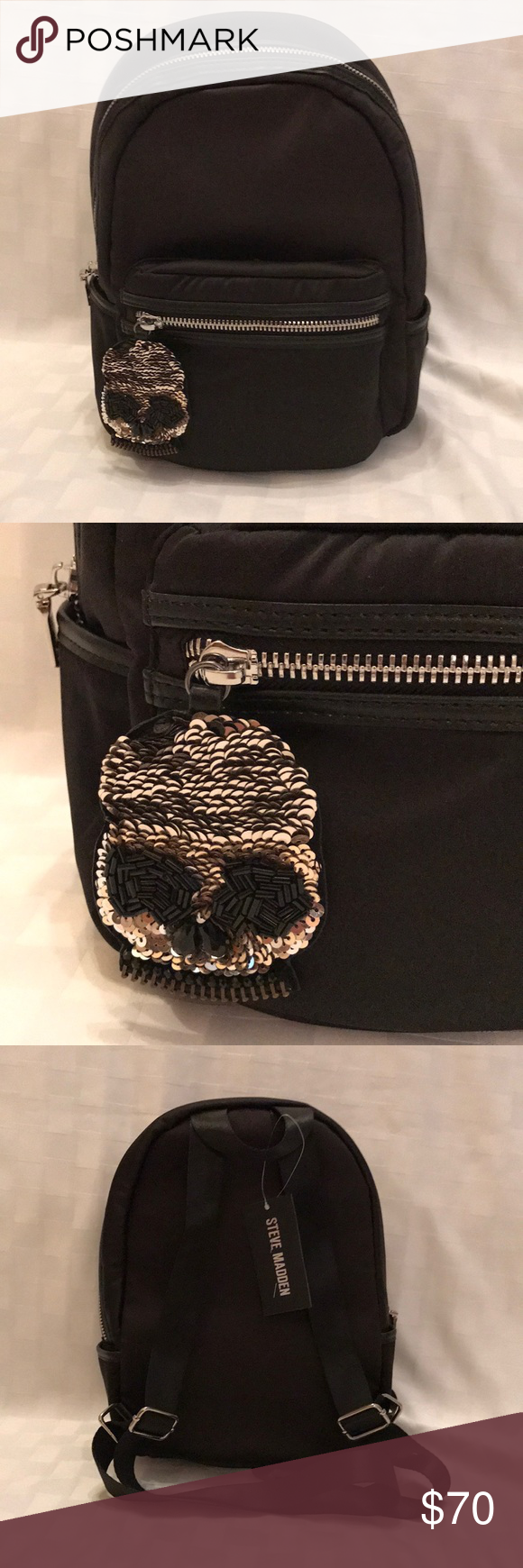 fbed886e47 Steve Madden Mini backpack BNWT Steve Madden mini backpack. Awesome  exterior with the skull attachment