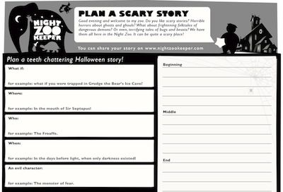 Halloween Writing Write Your Own Halloween Themed Story Based In