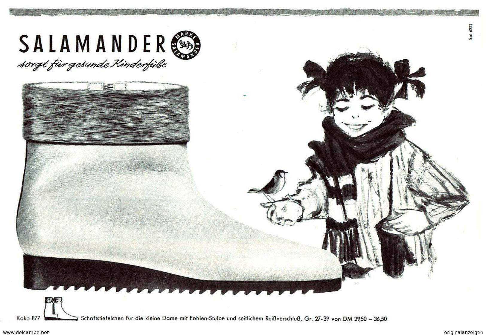 size 40 9c2b6 f28c9 Original-Werbung/ Anzeige 1962 - SALAMANDER SCHUHE - ca. 200 ...