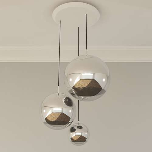 2791 mirror ball multipoint pendant
