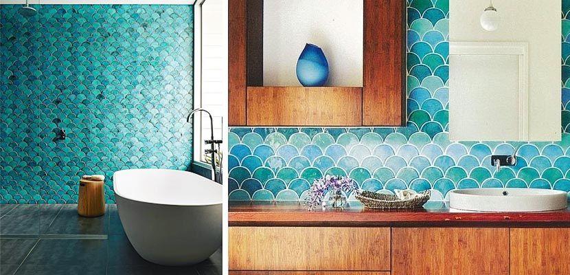 Cuartos de baño con azulejos turquesa | Azulejos