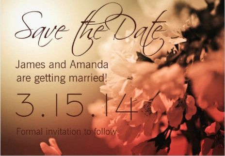 #Save_the_Date floral spring wedding invitations.