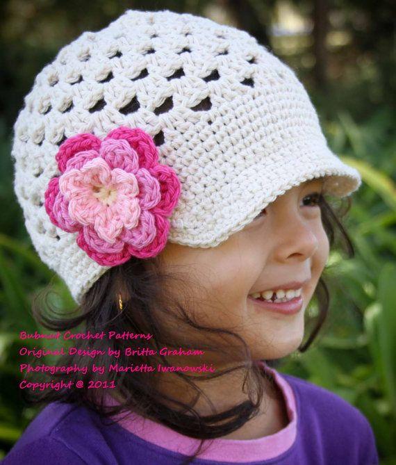 Open Stitch Newsboy Hat Crochet Pattern No.301 por bubnutPatterns ...