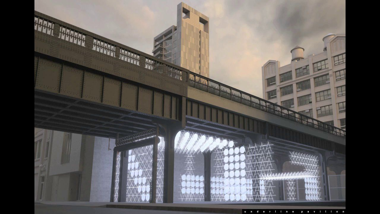 Underline Pavilion Space Frame Structures Pavilion