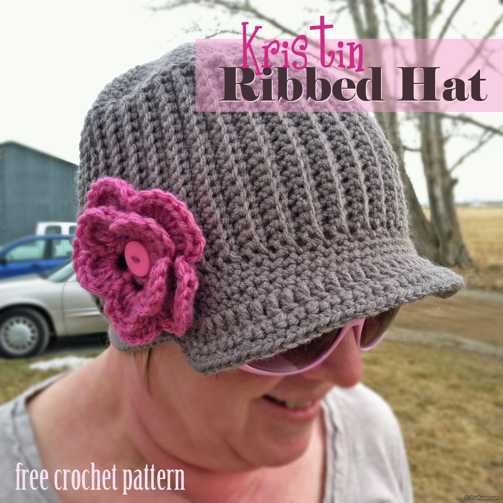 8b6008f69 Free Crochet Pattern - Kristin Ribbed Hat | Chemo Cap Patterns ...
