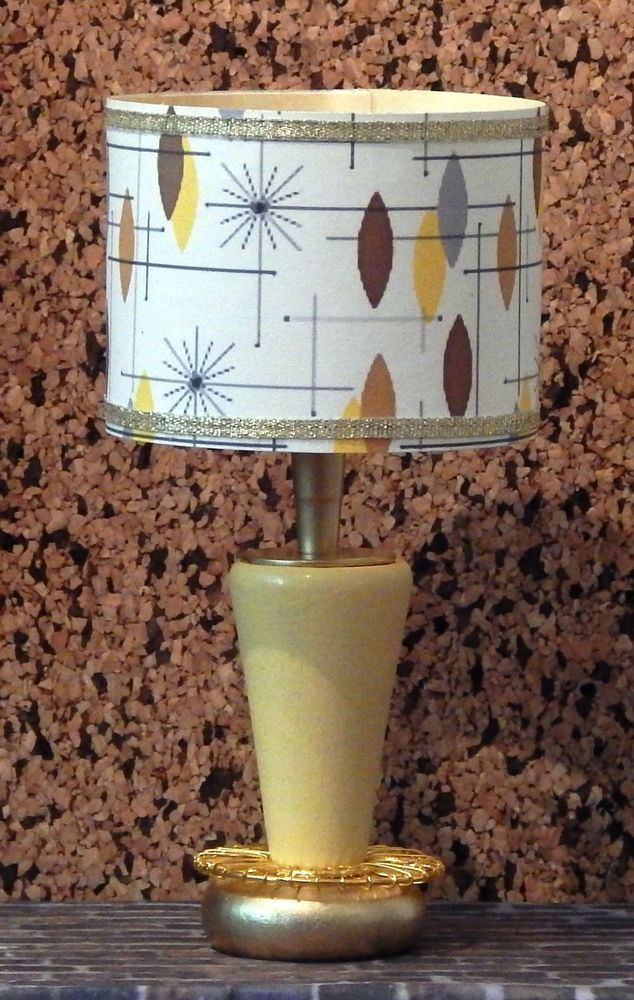 1 6 Scale Lamp Yellow Starburst Shade 50s Retro Barbie Fashion Royaly Barbie Diorama Barbie House Barbie