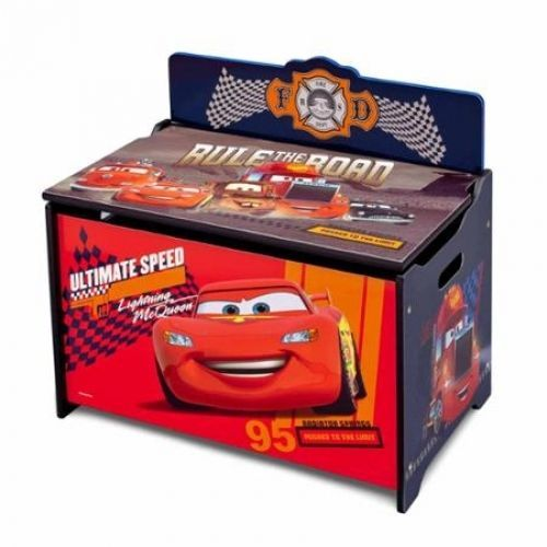 Cars Toy Box Disney Deluxe Toy Storage Lightning McQueen Children