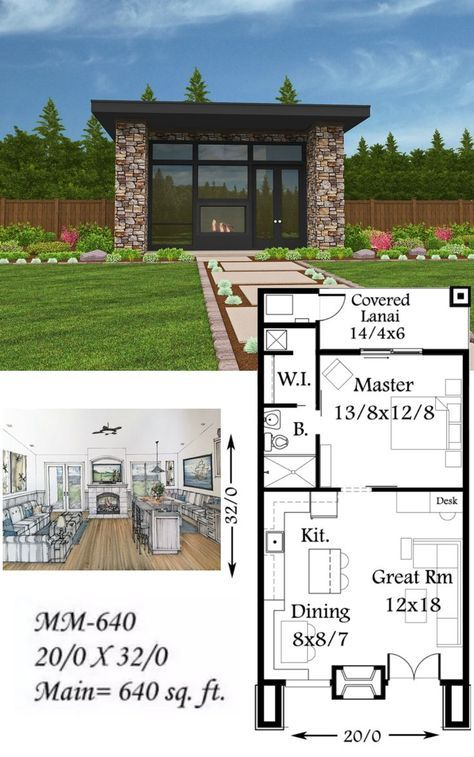 """plan #mm-640 """"soma"""" from mark stewart home design. all the substance"""
