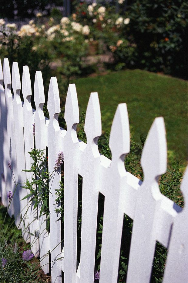 Build Your Own White Picket Fence With Help From The Garden Glove This Inexpensive Diy Project Uses Cedar Lumber To Add A Country Touch
