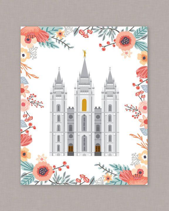 "PRINTABLE 8x10"" Salt Lake City Temple Poster"
