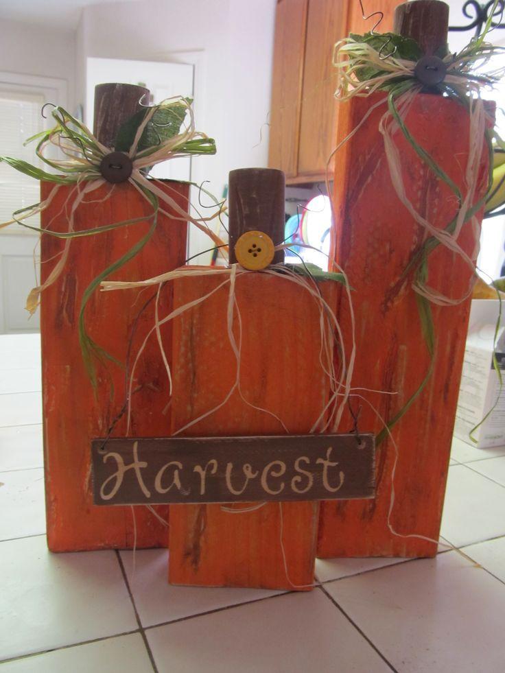 Pinterest Wooden Pumpkin Ideas Wooden Pumpkins Fall