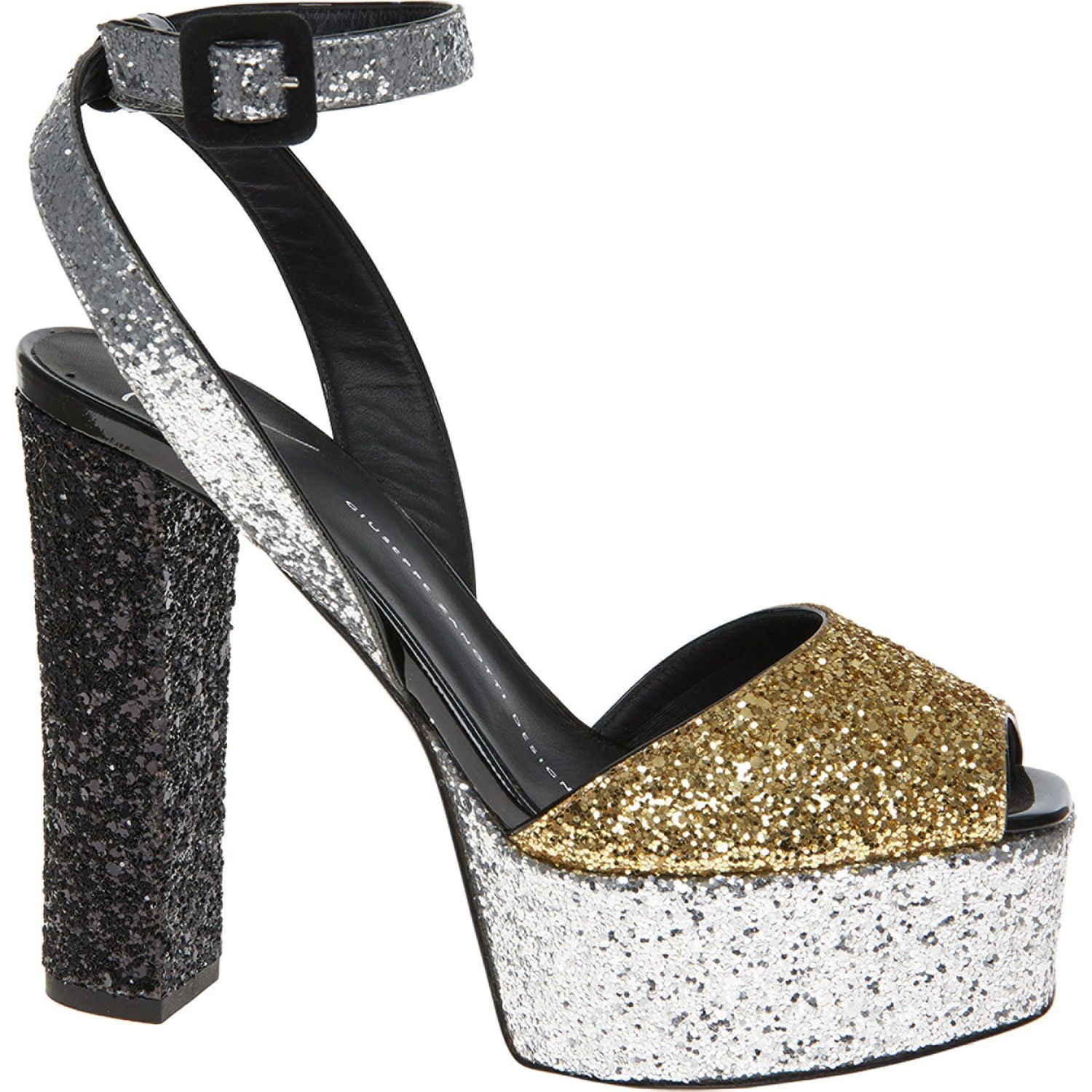 8c84ae00e0cd Silver & Gold Mekong Glittery Heels | Cool Shoes online , Womens ...