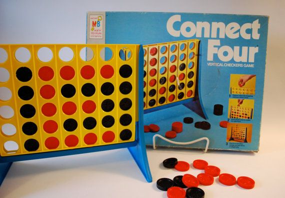 Vintage Connect Four Game By Milton Bradley Old School Board Games Old Board Games Old School Toys