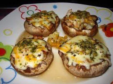 receta de hongos rellenos con queso