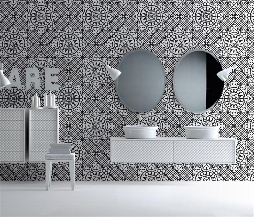 BADKAMER behang | Designwebwinkel - spaces | Pinterest - Badkamer ...