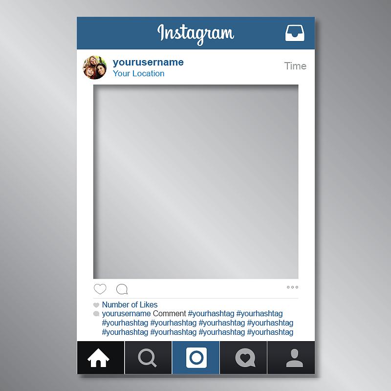 Instagram Frame Prop For Your Birthday Baby Shower Wedding