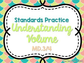 This freebie contains fifth grade practice problems for standards 5.MD.3 and 5.MD.4 where students count unit cubes to find volume.