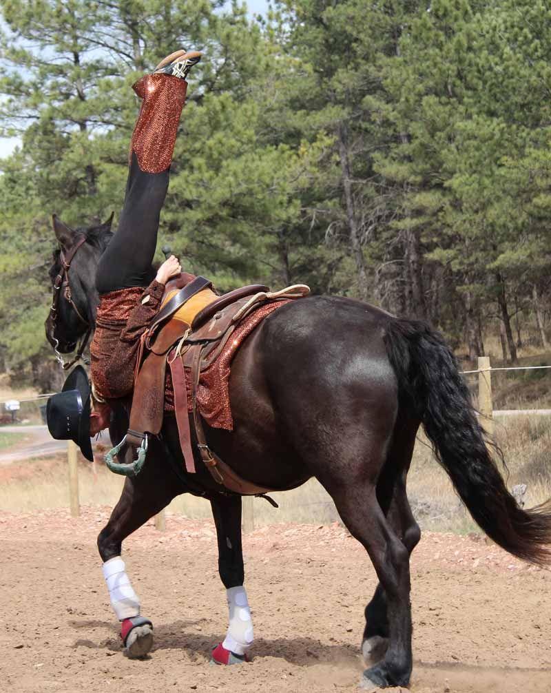Shoulder Stand Trick Riding