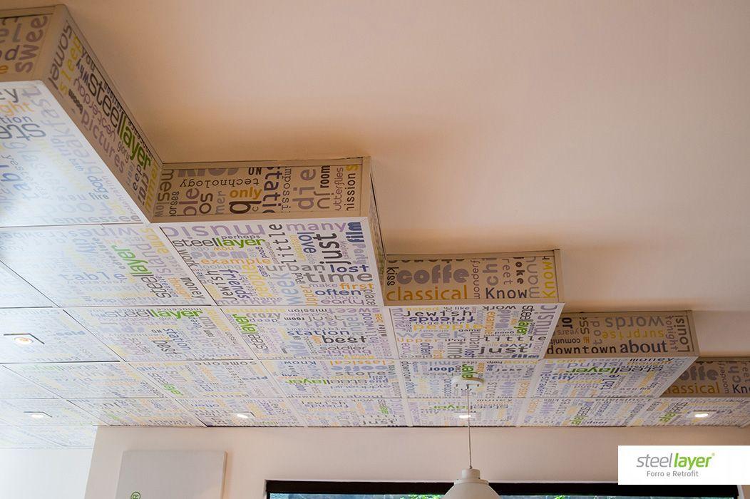 #steellayer #decor #decoracao #aco #aço #forro #versatilidade #estampa #print #inovacao #sofisticacao #design #arquitetura #architecture #home #room #alltype