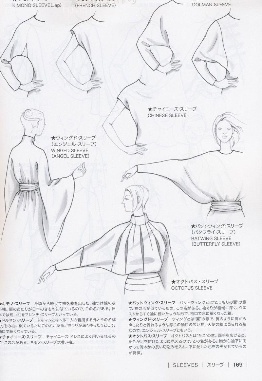 Guid to fashion design by bunka fashion coollege japan sleeves