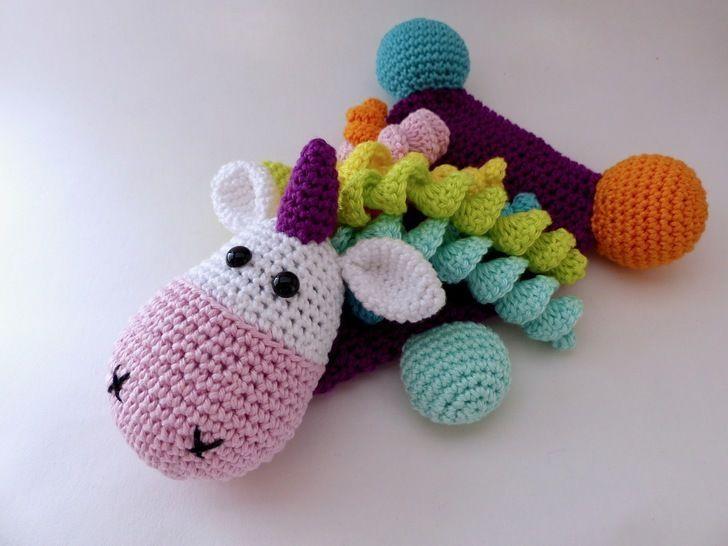 knistertuch einhorn häkeln  little unicorn weaving yarn