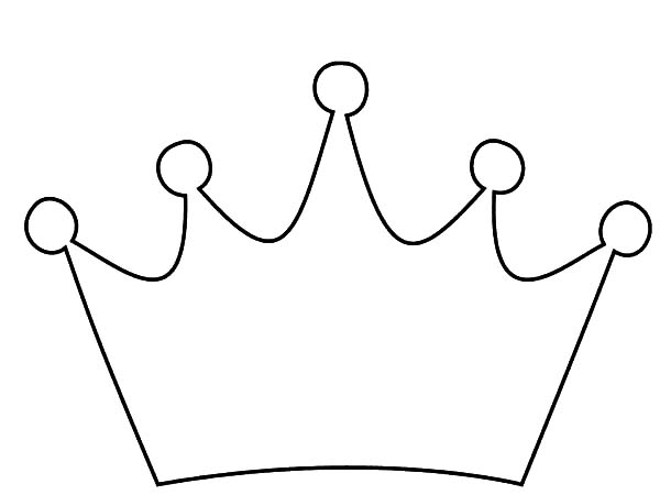 Crown Outline Coloring Pages Netart Crown Outline Coloring Pages Crown For Kids
