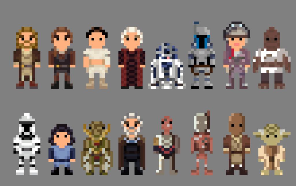 8 Bit Pixel Art Star Wars