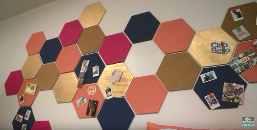 Hexagon Cork Board Hgtv Handmade Cork Board Ideas For Bedroom