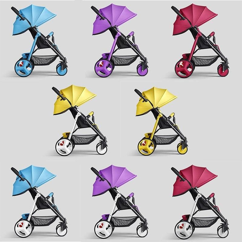 Photo of Colorful Light Weight Baby Cart Baby Stroller Small Foldable