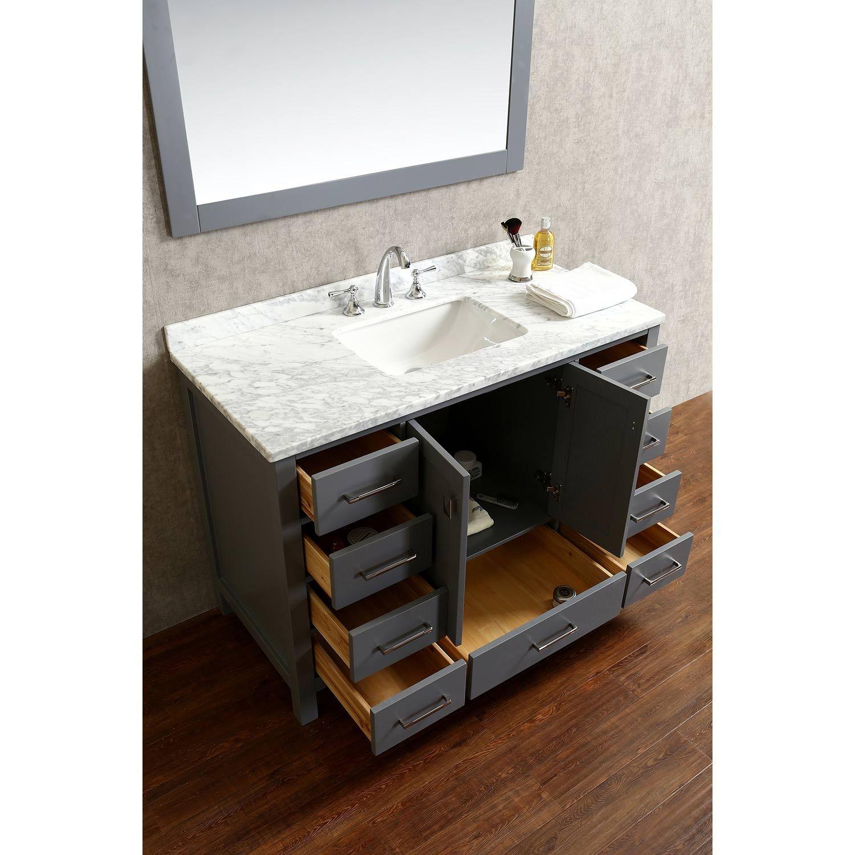 Sampler Solid Wood Bathroom Vanity From Fascinating Exterior Color