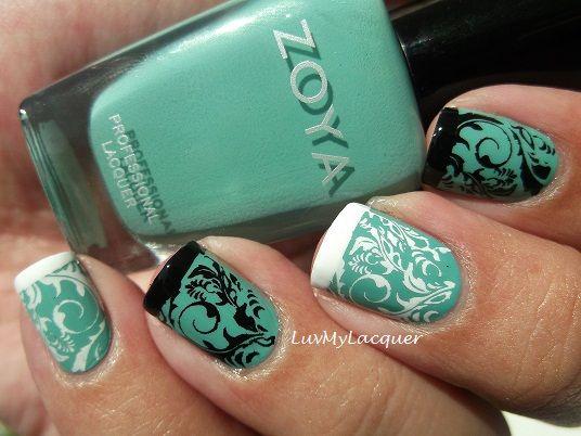Fancy #NailArt with Zoya Nail Polish in Wednesday <3