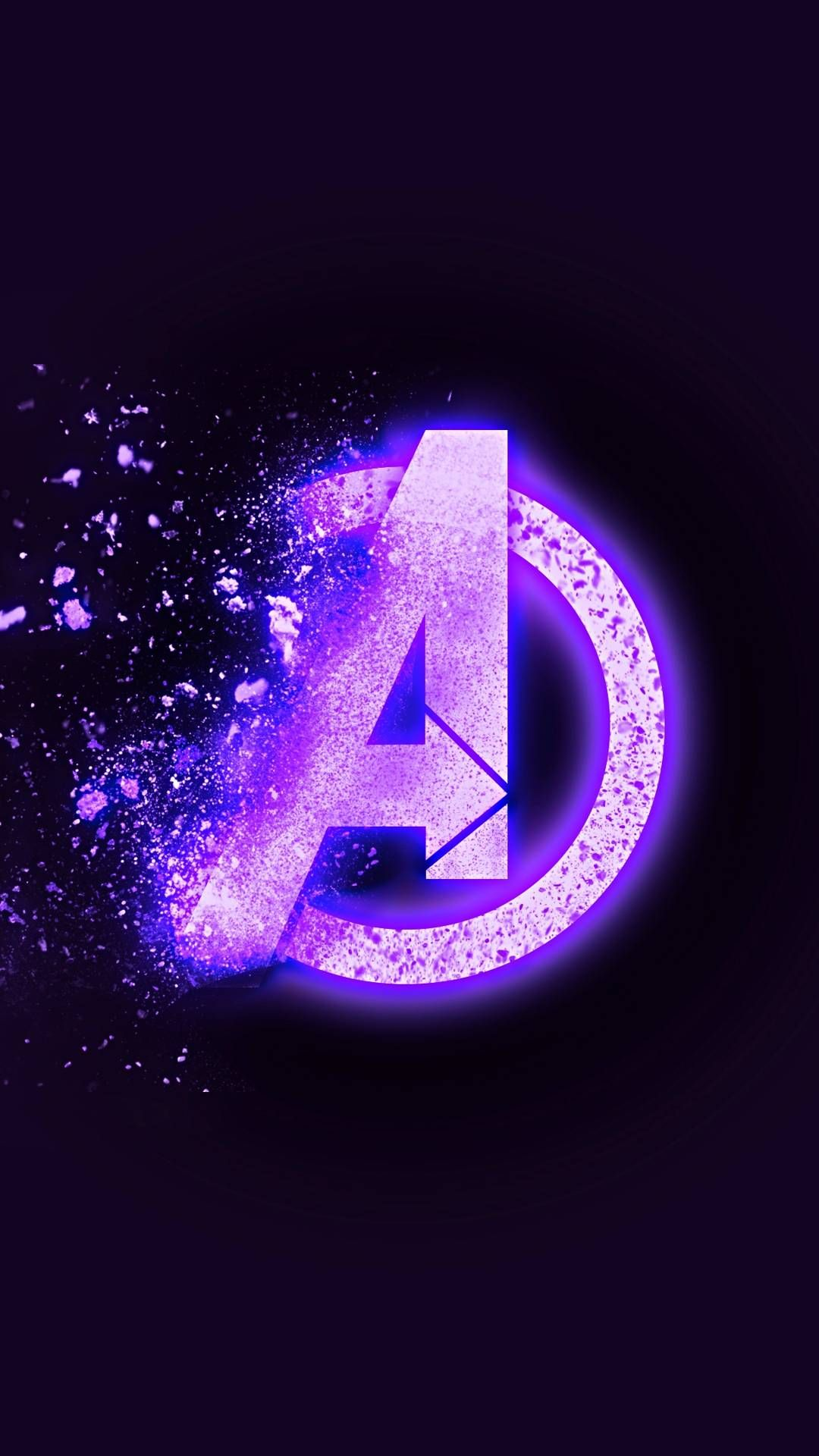 Avengers Endgame Dust Logo iPhone Wallpaper (With images
