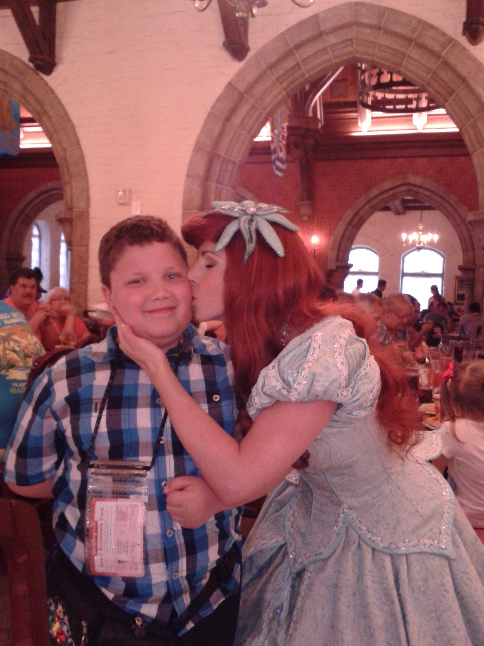 Princess Ariel Embarrassed The Boy Child She Even Left A Lipstick