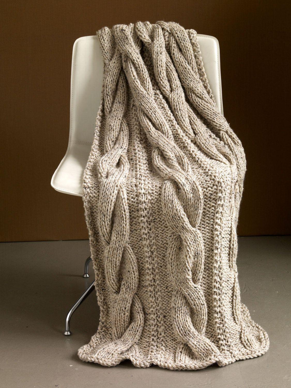 Hand Knitting Merino Wool Blanket : Cm merino wool hand knit cable chunky