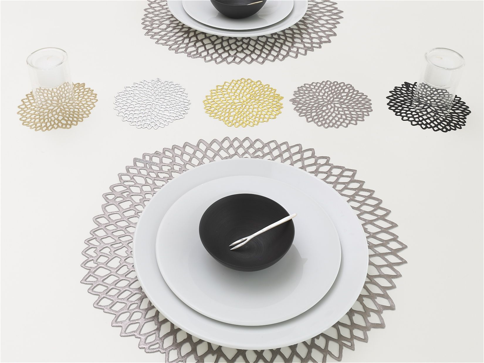 Dahlia Round Table Top Design Placemats Inspiration