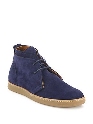 release date: new images of good service Saks Fifth Avenue Collection Double Layer Suede Chukka Boots ...