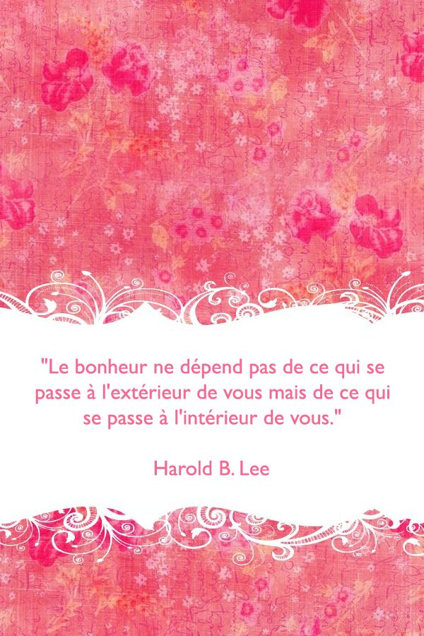 Bonheur French Quotes Citations Real Life