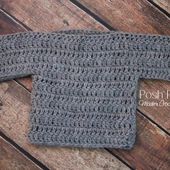 A Cute And Easy Free Baby Sweater Crochet Pattern Blogger Crochet