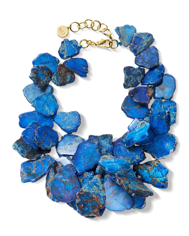 NEST Jewelry Blue Jasper Cluster Necklace