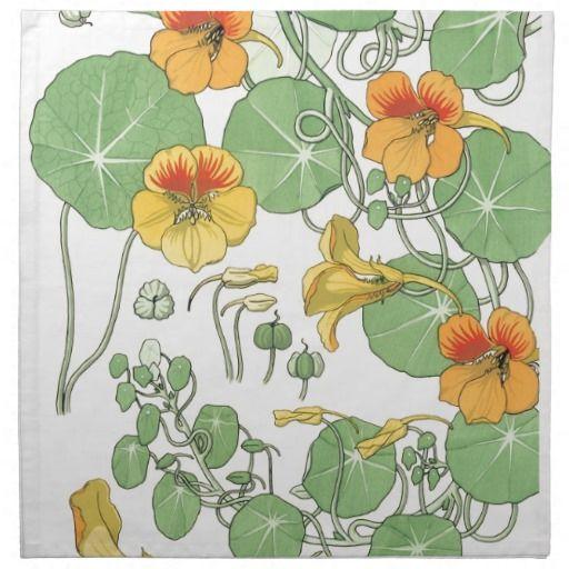 Nasturtiums Printed Napkin